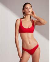 Express ribbed scoop bikini top