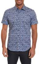 Robert Graham Men's Bronson Tailored Fit Print Short Sleeve Sport Shirt