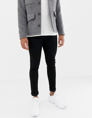 Jack and Jones Intelligence Liam skinny fit jeans in black