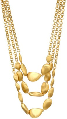 Dean Davidson 22K Goldplated Large Bead Triple Chain Necklace