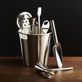 Crate & Barrel Bar Tool Set Silver