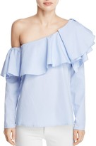 MLM Label One Shoulder Tiered Ruffle Top - 100% Exclusive