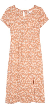 O'Neill Carlee Leaf Print Dress
