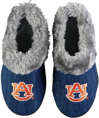 Women's Auburn Tigers Cable Knit Slide Slippers