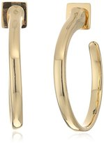 Vince Camuto Sleek Curve Gold Hoop Earrings