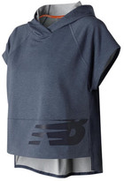New Balance Women's WT73107 Crop Short Sleeve Hoodie