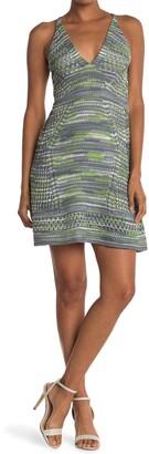 M Missoni V-Neck Patterned Dress