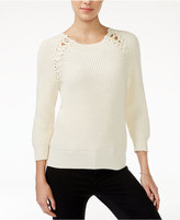 Armani Exchange Lace-Up Sweater