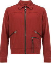 Lanvin zipped bomber jacket - men - Cotton/Calf Leather/Polyamide/Viscose - 50