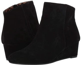 Seychelles Sultry (Black Suede) Women's Wedge Shoes