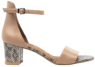Diana Ferrari Soco Nude/Snake Sandal
