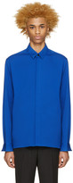 Haider Ackermann Blue Cotton Shirt
