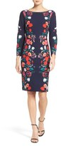 Eliza J Floral Print Sheath Dress