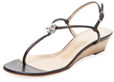 Giuseppe Zanotti Leather Demi Wedge Sandal