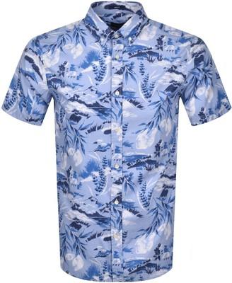 Gant Riviera Regular Fit Short Sleeved Shirt Blue