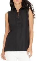 Lauren Ralph Lauren Lace-Up Sleeveless Shirt