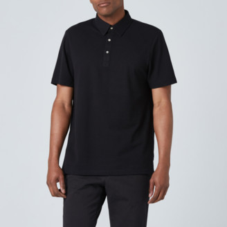 DSTLD Pique Polo in Black