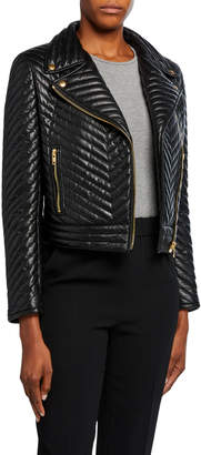Escada Sport Limana Quilted Leather Jacket