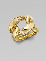 Michael Kors Structured Chain Link Ring/Goldtone