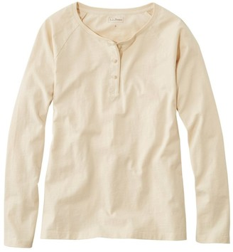 L.L. Bean Women's Lakewashed Organic Cotton Tee, Henley