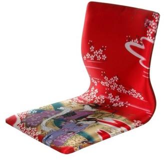 "Oriental Furniture Tatami Meditation Backrest Chair, Red Geisha, 14.5""W x 17""H"