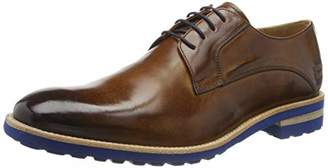Melvin & Hamilton MH HAND MADE SHOES OF CLASS Men's Eddy 8 Derbys, Brown Crust-Wood-Laces-Navy-Lining-Rich Tan-Insole Leather-Aspeneblueu, UK