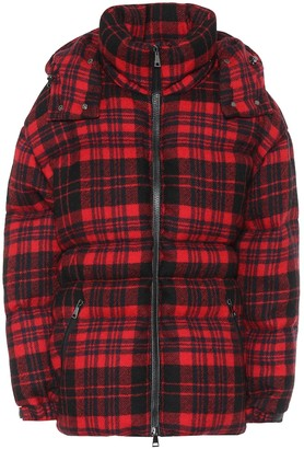 Moncler Checked wool down coat