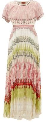 Missoni Metallic-knit Maxi Dress - Womens - Green Multi