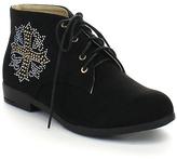 Black Studded Cross Chukka Boot
