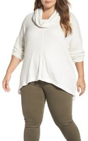 Lucky Brand Plus Size Women's Cowl Neck Thermal Top