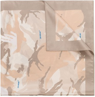 Off-White x Browns 50 camouflage silk scarf