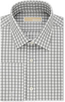 MICHAEL Michael Kors Men's Classic-Fit Non-Iron Cotton Gray Check French Cuff Dress Shirt