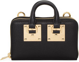 Sophie Hulme Black Medium Albion Double Zip Wallet Bag