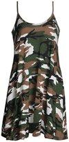 URqueen Women's Fashion Multicoloured Round Collar Tunic Tank Dress