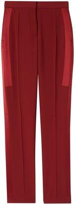 Burberry High-Waisted Side Stripe Trousers