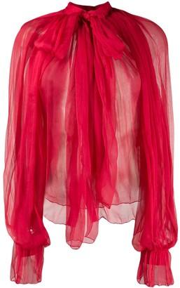 Couture Atu Body sheer silk blouse