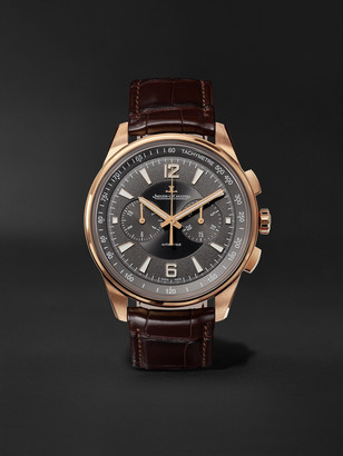 Jaeger-LeCoultre Polaris Automatic Chronograph 42mm Rose Gold And Alligator Watch, Ref. No. Q9022450