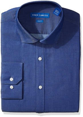Vince Camuto Men's Slim Fit Denim Dress Shirt 17.5 34/35