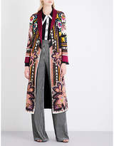 Etro Floral and paisley-pattern reversible satin coat