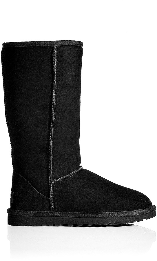 UGG Leather Classic Tall Boots in Black