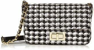 Karl Lagerfeld Paris Agyness Woven SM CROSSBDOY