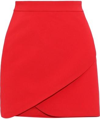 Alice + Olivia Dasia Wrap-effect Crepe Mini Skirt