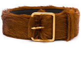 Prada furry buckle belt