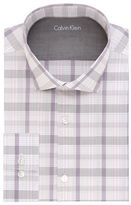Calvin Klein Plaid Extreme Slim-Fit Cotton-Blend Dress Shirt