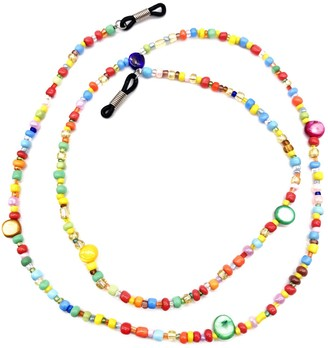 Outman Cute Colorful Beaded Eyeglass Chains Sunglass Holder Strap Eyewear Retainer Lanyard - Multicoloured - One Size
