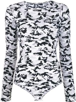 MM6 MAISON MARGIELA Camouflage Printed Bodysuit