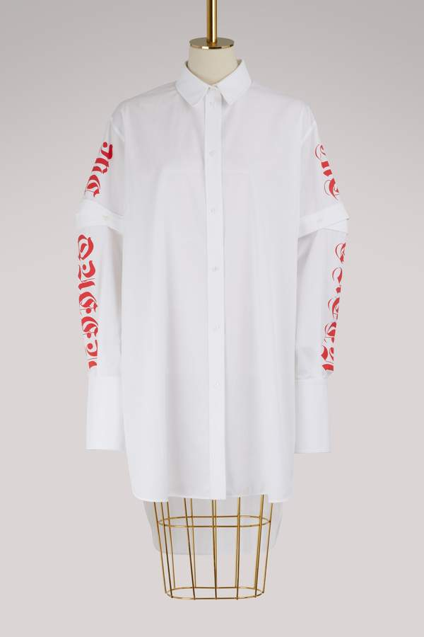 Alexander McQueen Long cotton shirt