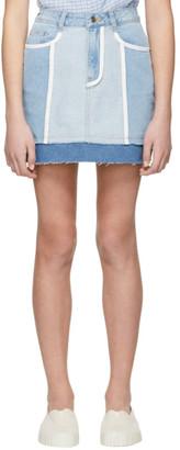 Sjyp Blue Denim Miniskirt