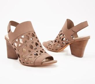 Vince Camuto Cutout Nubuck Heeled Sandals- Deverly