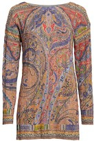 Etro Paisley Cable-Knit Tunic Sweater